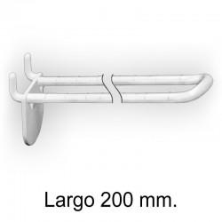 Gancho Expositor Doble sin Pinchos Blanco