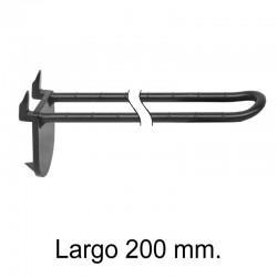 Gancho Expositor Doble con Pinchos Negro