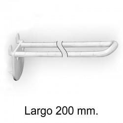 Gancho Expositor Doble con Pinchos Blanco